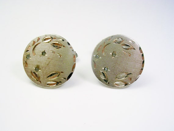 vintage sterling silver cufflinks anson etched