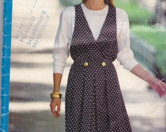 See and Sew 6447 Vintage Pattern Womens Jumper and Blouse Size 12,14,16