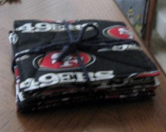 NFL Fabric Coasters (Set of Six) -San Francisco 49ers -- Free Shipping