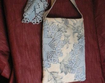 Blue Doily Shoulder Bag