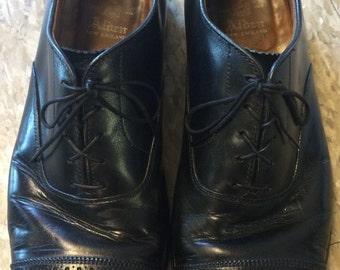 Vintage nueva suela y talón de los zapatos Alden Balmoral Cap Toe Oxford cuero Vestido de encaje