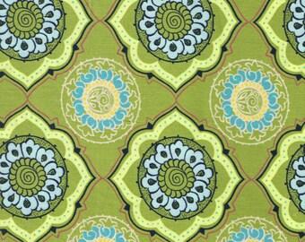 Green Fabric- Geometric Groovy Bohemian Fabric- Olive Green Fabric -Art Gallery- 1 Yard