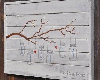 Barn Wedding Decor, Rustic Wedding Decor, Wedding Gift, Bridal Shower Gift, White Washed Plank Wood Sign,  Anniversary Gift