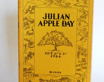 Vintage Booklet, Julian Apple Day. 1954