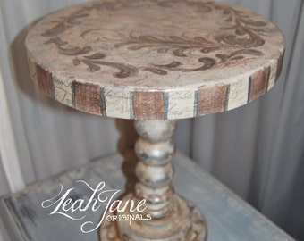 Hand Painted Cake Stand Pedestal handmade OOAK *******FREE SHIPPING*****