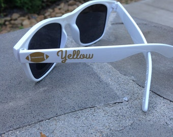 Georgia Tech Football Sunglasses, Team or School Personalized, Tailgating, Wayfarers, White