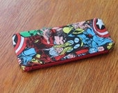 Marvel pencil case, red, blue, green, orange, men, women, boys, girls, teen, back to school, school supplies, hulk, spiderman, thor, ironman