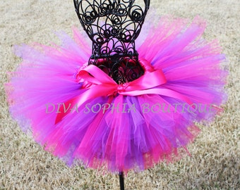 Hot Pink and Purple Tutu for Newborn - Infants - Toddlers