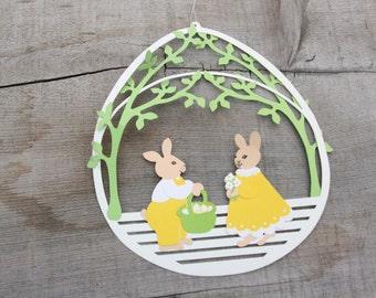 Vintage Easter Bunny Decoration ~ Easter Egg ~ Easter Bunny