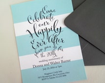 Wedding Anniversary Party Invitation - Printable Wedding Celebration - Happily Ever After - Dinner Party
