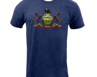 Pennsylvania State Flag - Tri Indigo