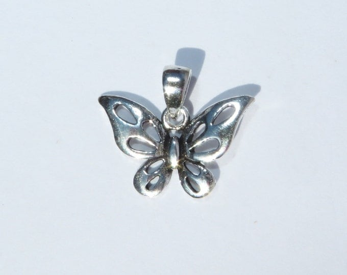 925 Genuine Silver Butterfly Charm  - 92.5% Sterling Necklace Weddings Christening Bride Bridesmaid Flower Girl 21st sweet 16 Birthday Gift