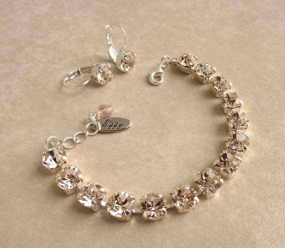 items similar to swarovski crystal tennis bracelet 8mm. Black Bedroom Furniture Sets. Home Design Ideas