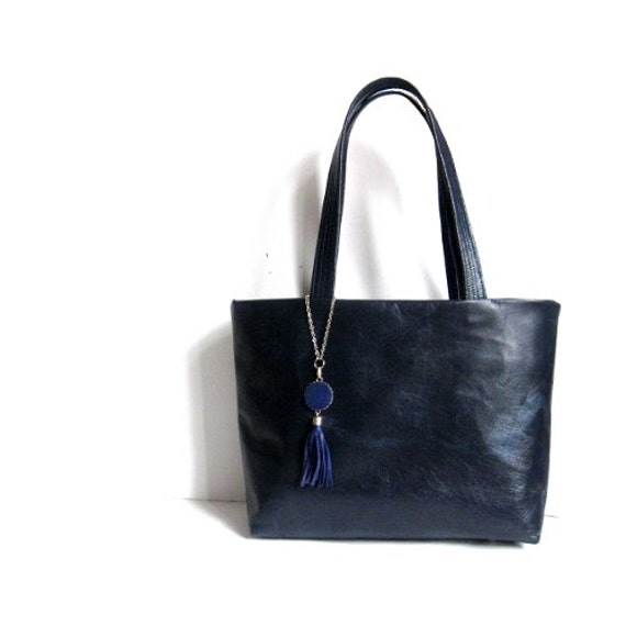d8e8ec1e2ee2 Navy Blue Leather Tote Bag | Stanford Center for Opportunity Policy ...