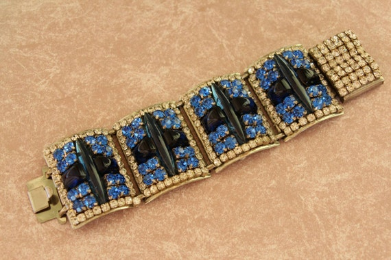 Iris G Bracelet, Huge One of a Kind Designer Runway Style