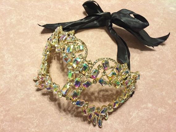 Complete Your Own Costume Mardi Gras, Carnivale,  Fantasy Fest,  Masquerade Rhinestone Jeweled Mask