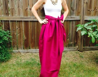 Womens maxi skirt, formal with large bow
