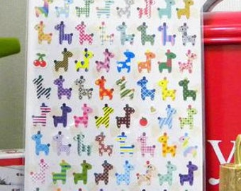 Sales : Cute Giraffe Paper Sticker  - 1 Sheet