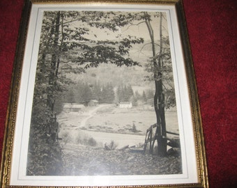 "ANTIQUE PHOTOGRAPH Country Scene 9 1/4"" x 11"""