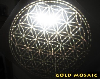 Mosaic Flower Of Life vinyl decal. various colours available