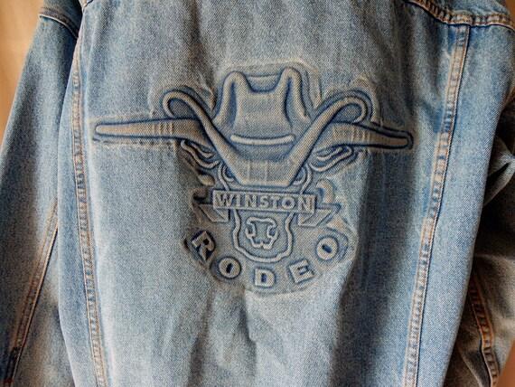 L Xl Winston Rodeo 1980s Mens Promotional Denim Dungaree