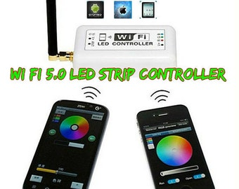 8 ft Battery Powered Octopak Wifi controlled 5050 RGB LED strip light kit.