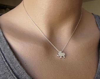 Tiny elephant  necklace, Sterling silver necklace, Delicate necklace, Simple Tiny necklace, Baby elephant necklace, Minimalist