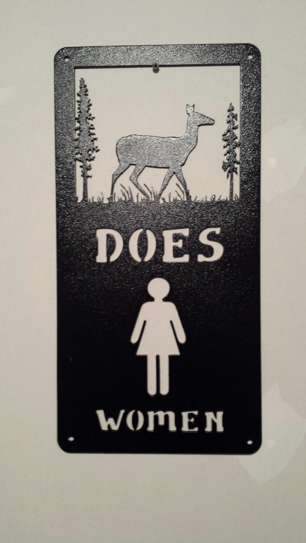 Metal Wall Art For A Bathroom : Metal wall art bathroom sign restroom women