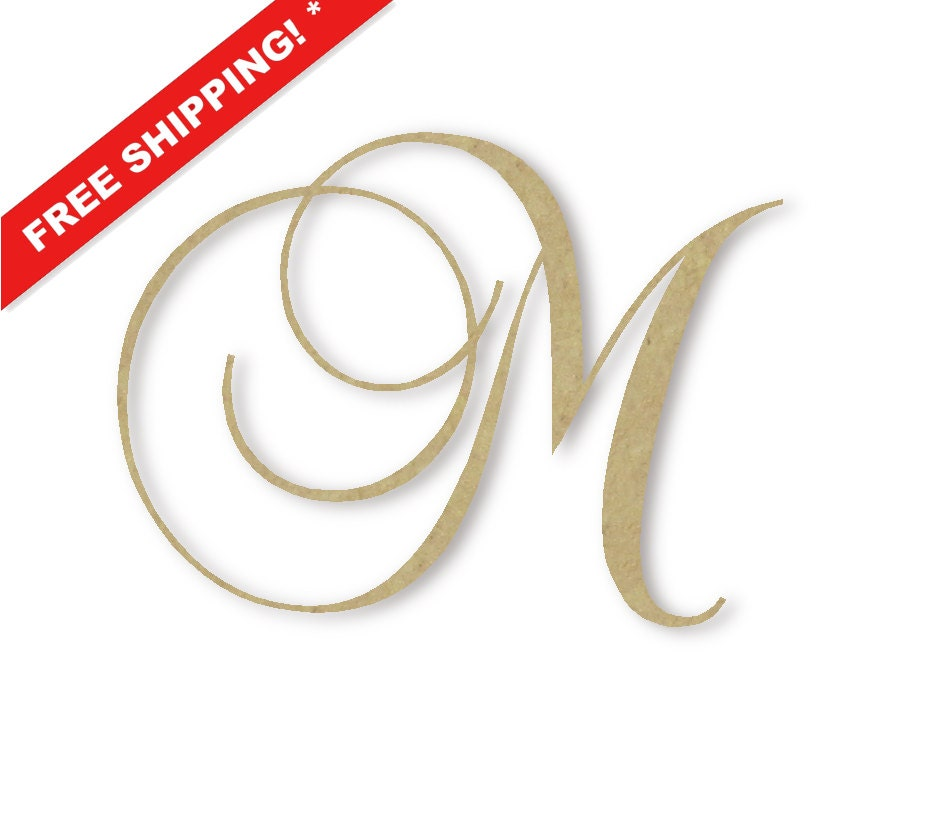 wooden monogram letter m large or small unfinished by buildeez With large wooden letter m