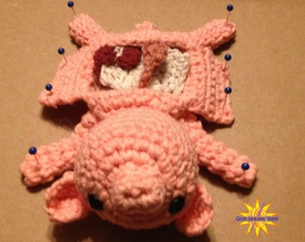 Dissected Fetal Pig with Removable Organs Crocheted Amigurumi Science