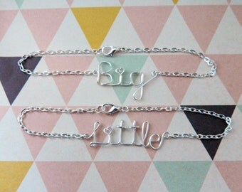 Sorority Big Little Sister Bracelet Set • Wire Bracelets • Sorority Gift Jewelry • Big Little Reveal • Big Little Sister Gifts