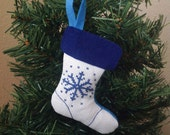 SALE Snowflake Stocking Ornament
