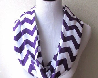 Purple Scarf, Purple Infinity Scarf. Purple Chevron Scarf.Purple Zigzag Scarf. Scarf.loop Scarf.Circle Scarf. Infinity Scarf.