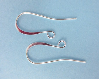144pcs French Hook Earrings Long Silver Plated (F1458)