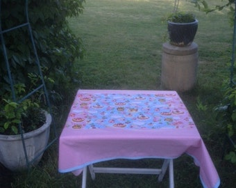 Table cloth using technical Patchwork. Each item is handmade and one of a kind.