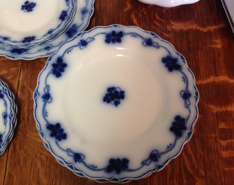 Flow Blue Clover Grindley Dinner Plate Vintage Gorgeous