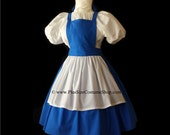 BELLE Blue Dress Plus Size Halloween Costume BEAUTY and the BEAST Adult Womens Size 1X 2X 3X 4X 5X - 4 pcs New