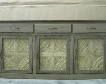 Buffet / Sideboard / Cabinet / Great Storage for Kitchen or Dining Room / Shown in Distressed Tan