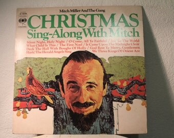 """Mitch Miller And The Gang - """"Christmas Sing-Along With Mitch"""" vinyl record"""