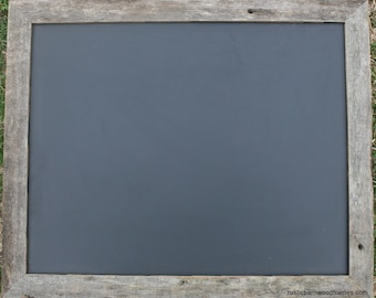 "Large Rustic Barnwood Framed Chalkboard Chalk Black Board Display Menu 18""x24"""