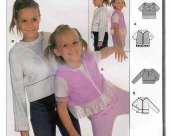 Burda  Girls' Hooded Jacket w/Short or Long Sleeves sizes 6-10 Sewing Pattern # 9893