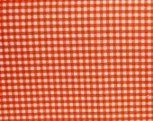 On Sale: Riley Blake Small Gingham Orange Fabric Sold by Yard
