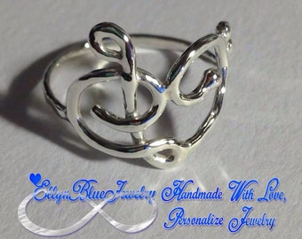 Music love ring, Treble Clef Ring