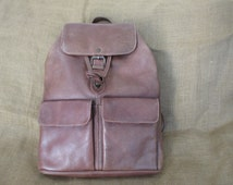 Vintage ESPRIT brown leather backpack rucksack bag