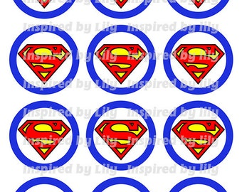 INSTANT DOWNLOAD Superman cupcake toppers, Superman party, Superman theme birthday