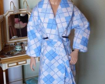 Handmade Flannel Robe for Ken fashion doll