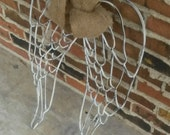 Angel Wings, Shabby Chic, Iron Angel Wings, Baby Room, Grave Marker. Free shipping