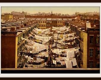 New York City Monday Morning 1900 - Print