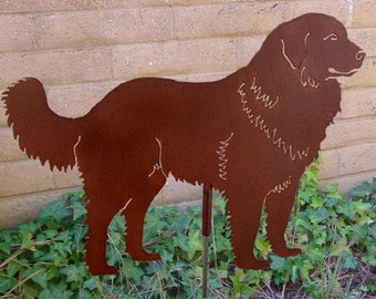 Great Pyrenees Mt. Dog Garden Stake, Pet Memorial, Ornament, Steel Yard Art, Dog Breed Specific, Rustic