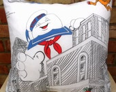 Ghostbusters Vintage Fabric Cushion Selection-  Handmade by Alien Couture